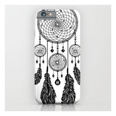 Dreamcatcher (black & White) iPhone 6s Case ($35) ❤ liked on Polyvore featuring accessories, tech accessories, phone cases, electronics, white, phones and iphone & ipod cases