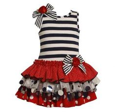 2013 Preorder Red White & Blue Tutu Dress Perfect for the 4th of July! Newborn to 6X Personalize It! - Children's Fourth of July Clothing - Cassie's Closet