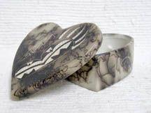 Native American Navajo Ceramic Horsehair Pottery Navajo Indian Made Ceramic Jewelry Boxes $20