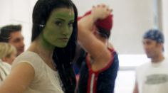 Idina Menzel in rehearsal. Did you know it took her 30 minutes to put on the green makeup and 20 minutes to remove it?