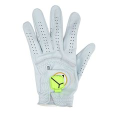 A golf sensor motion device ($150) attaches to a golf glove and lets him see his swing in 3D from iPhone, iPad, or iPod touch. It also works with an app that measures club head speed, hand path, tempo, and other stats.