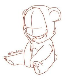 Ideas For Baby Drawing Reference Posts Baby Drawing, Drawing Base, Manga Drawing, Chibi Drawing, Chibi Sketch, Teddy Bear Drawing, Anime Sketch, Manga Art, Body Sketches