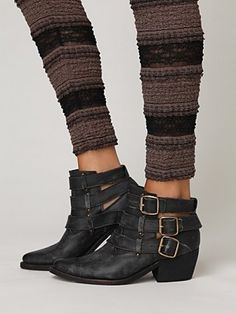 Jeffrey Campbell for Free People- buckle back ankle boot