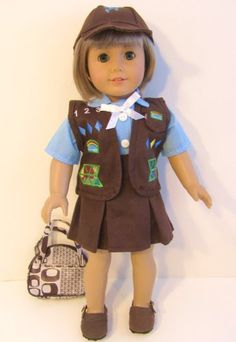 """Brownie Doll Uniform for 18"""" Dolls or American Girl Doll PLUS FREE BAG!!! The Wishlist Store Doll Clothes,http://www.amazon.com/dp/B004U2RN4U/ref=cm_sw_r_pi_dp_to.ztb10NARX916X"""