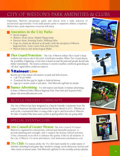 CITY OF WESTON'S PARK AMENITIES & CLUBS #LoveYourHome #WestonFL