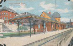 Waukegan IL * North Western RR Depot  1917 * Lake Co.