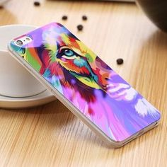 Modern Blue Ray Light Clear Mobile Phone Case For iPhone 5s - 7 Plus