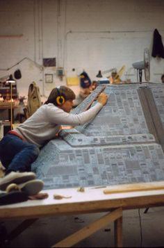 'Blade Runner' taller de maquetas, vía Imgur.