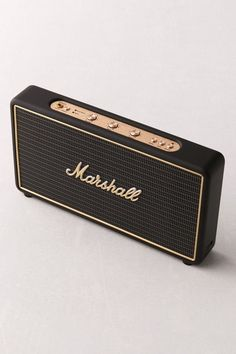 Marshall Stockwell Bluetooth Speaker Offering a compact design that never compro electronics Marshall Stockwell, Cool Bluetooth Speakers, Bluetooth Gadgets, Audio Speakers, Speaker Design, Lifestyle Shop, Marshall Speaker, Audiophile, Shopping