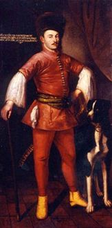 A painting of Paul I of Esterházy wearing just a dolman
