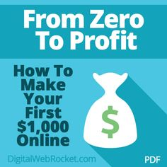 From Zero To Profit: Gives you a great look at what to do in order to break into the PLR business and start selling content to other marketers in this red-hot industry.