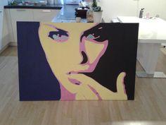 """""""eyes"""", 100x150cm, Acryl on canvas"""