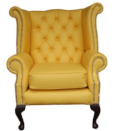 I want two of these for the nook by the kitchen - with a small table for coffee.  GREAT pop of color against my dark oak hand scraped floors.  Google Image Result for http://www.modenus.com/blog/wp-content/uploads/2010/10/chesterfield-wing-chair-yellow-leather.gif