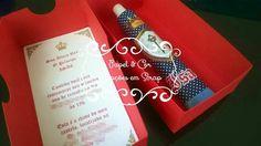 Caixa convite - Festa Principe Personalized Items, Box Invitations, Garden, Baby Dolls, Colors, Party, Ideas