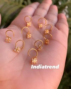 """Indiatrend on Instagram: """"These nose pins are back!! The Alia are a must have!! ################## SHIPPING WORLDWIDE 🌍 ################## SHOP :…"""" Nose Rings, Must Haves, Jewels, Bracelets, Shopping, Instagram, Jewerly, Bracelet, Gemstones"""