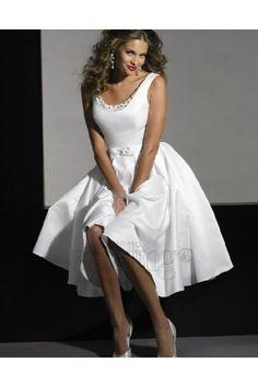 Wedding Dress Shop Exeter-Ivory Short Wedding Dresses weddingdresses0656A - Weddingdressgood.com