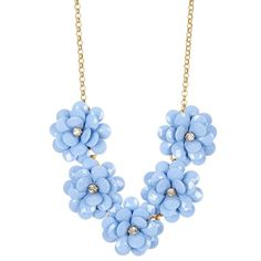 J. Crew Flower Burst Necklace ($33) ❤ liked on Polyvore featuring jewelry, necklaces, statement necklaces, gold tone jewelry, steel jewelry, flower jewelry and beaded jewelry