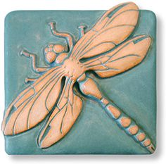 High relief dragonfly tile.
