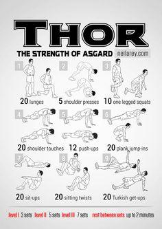 Thor-180 exercices de musculation pour obtenir un corps de super héros
