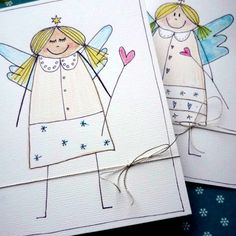Můj Fler: Andělské přání Felt Christmas Ornaments, Christmas Art, Christmas Holidays, Directed Drawing, Big Shot, Merry And Bright, Xmas Cards, Advent, Cardmaking