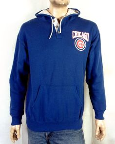 a36c0e286 vtg 80s Jerzees retro Chicago Cubs MLB Sweatshirt Hoodie Jacket Pullover sz  XL