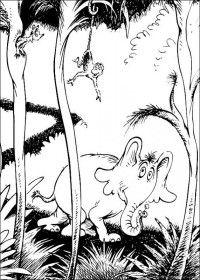 Dr. Seuss Horton Coloring Pages
