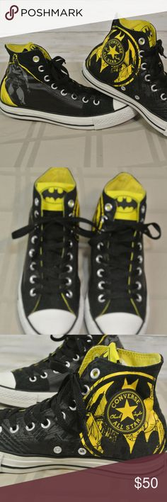 440334b5f Converse All Star DC Comics BATMAN 7 Men 9 Women Excellent Condition! Converse  All Star