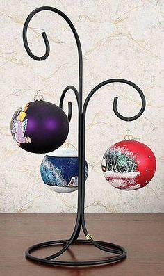 Wrought Iron Mug Tree Holder | Ornament Hangers - Wrought Iron Tree