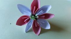 My first paper flower. Paper Cutting, Paper Flowers, Homemade, Home Made, Hand Made