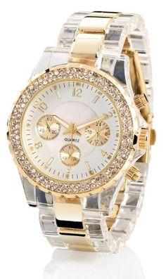 Sale Preis: Crell Elegante Quarz-Armbanduhr, transparent-gold. Gutscheine & Coole Geschenke für Frauen, Männer & Freunde. Kaufen auf http://coolegeschenkideen.de/crell-elegante-quarz-armbanduhr-transparent-gold  #Geschenke #Weihnachtsgeschenke #Geschenkideen #Geburtstagsgeschenk #Amazon