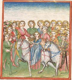 Elisabeth <Nassau-Saarbrücken, Gräfin, 1393-1456> Herpin — Stuttgart (?) - Werkstatt Ludwig Henfflin, um 1470 Cod. Pal. germ. 152 Folio 81r