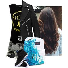 Untitled #194 by dauntlessbadgirl on Polyvore featuring polyvore fashion style Yves Saint Laurent Boohoo Supra JanSport