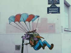 Street Art : La Butte-aux-Cailles Kos, Street Art, Comic Books, Comics, Comic Book, Comic Book, Comic, Cartoons, Comic Art