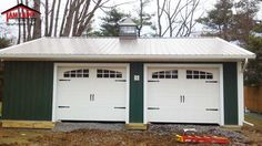 Residential Polebarn Building In Blue Bell Pennsylvania Project Overview X Carriage Style Garage Doors With Glass Inside Scissor Truss Overhang On Front