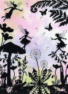 Buy+Fairy+Glade+Cross+Stitch+Kit+Online+at+www.sewandso.co.uk