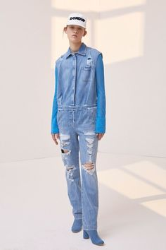 Dondup Resort 2018 Fashion Show Collection Blue Denim Shirt, Fashion Show Collection, Denim Fashion, Denim Button Up, Ready To Wear, Casual, How To Wear, Runway, Vogue