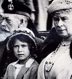 1933 - King George V, his granddaughter, Princess Elizabeth and Queen Mary.