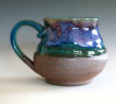 Large Coffee Mug, 17 oz, handmade ceramic cup, tea cup, coffee cup. $25.00, via Etsy.