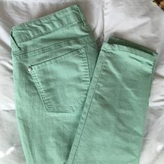 Forever 21 jeans Very cute sea foam green jeans! Forever 21 Jeans Skinny