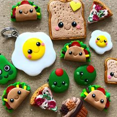 Image may contain: food Polymer Clay Figures, Cute Polymer Clay, Cute Clay, Polymer Clay Dolls, Polymer Clay Projects, Polymer Clay Charms, Clay Crafts, Miniature Crafts, Miniature Food