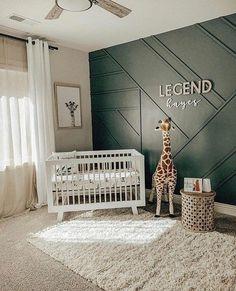 Baby Bedroom, Baby Boy Rooms, Baby Boy Nurseries, Nursery Room, Kids Bedroom, Nursery Ideas, Project Nursery, White Nursery, Accent Wall Nursery