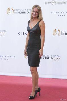 Sharon Case lors de la cérémonie d'ouverture du 53e festival de Monte-Carlo au Forum Grimaldi à Monaco, le 9 juin 2013. Y