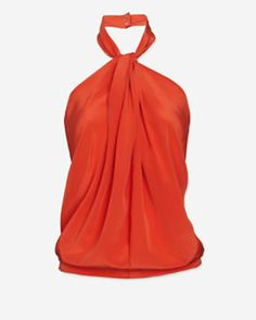 Robert Rodriguez Draped Halter Neck