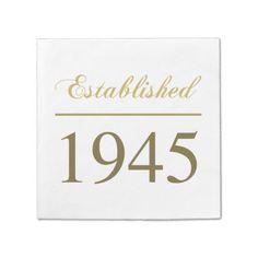 Established 1945 paper napkin