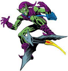 The Green Goblin (Norman Osborn) vintage art on white background