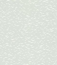 Yukutori Pastel Green (BP 4303) - Farrow & Ball Wallpapers - This delicate design is inspired by the silhouettes of flying birds. Taken from a mid century Japanese pen and ink drawing, the soft outlines of the birds floating across the paper creates a delicate patterned effect. Shown here in pastel green and off white. Other colourways are available. Please request a sample for a true colour match.