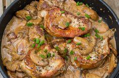 Pork Chops with Brandy Mushroom Sauce