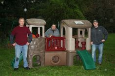 One Simple Wish volunteers built a playhouse for kids under 12 in foster care at a residential home. The kids watched from the window as it was built.