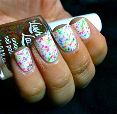 NEW NeonFRECKLES  CustomBlended NEON Glitter Nail by lushlacquer, $9.00