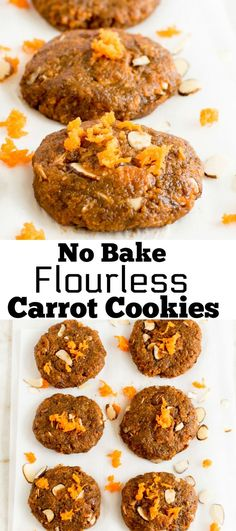 No Bake Flourless Carrot Cookies [ vegan + paleo ] only 4 ingredients dessert/snack thats quick and easy grab and go sweet treat | kiipfit.com